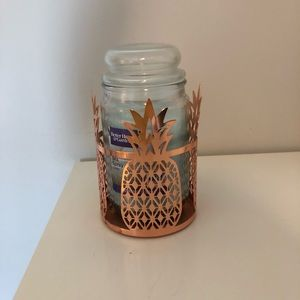Sea Spray candle with Pineapple Candle Holder